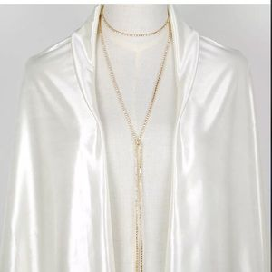 Gold rhinestone wrap necklace